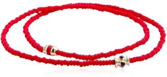 Luis Morais Ruby Barrel Double Wrap Bracelet