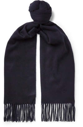Johnstons of Elgin Kingsman + Fringed Cashmere Scarf