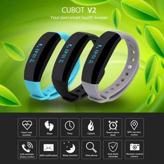 CUBOT V2 Smart Bluetooth Wristband Fitness Tracker Waterproof Sports Activity Tracker Watch for Android and IOS