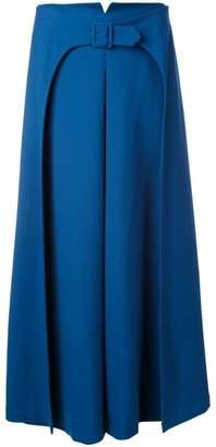 Vilshenko belted a-line skirt