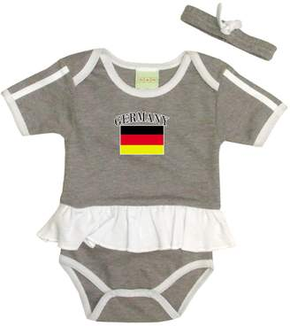 PAM baby girl Germany soccer Ruffled bodysuit