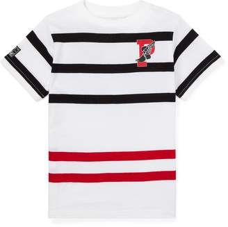 Ralph Lauren Striped Cotton Graphic T-Shirt