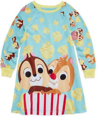 Disney Girls Knit Nightshirt Long Sleeve