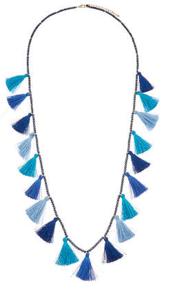 Kenneth Jay Lane Plated Seed Bead Necklace