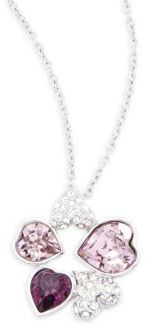 Crystal Heart Pendant Necklace $89 thestylecure.com