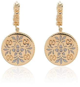 Gucci Gold and enamel Icon floral earrings