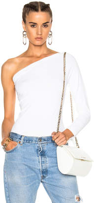 Helmut Lang One Shoulder Long Sleeve Top
