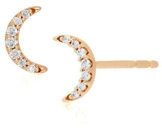 Bony Levy 18K Rose Gold Diamond Half Moon Stud Earrings - 0.05 ctw