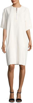 Celine Front Zipper Midi Dress