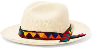 Sensi Studio - Embroidered Toquilla Straw Panama Hat - Cream $155 thestylecure.com