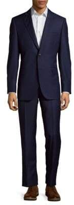 Saks Fifth Avenue Pinstripe Wool Suit