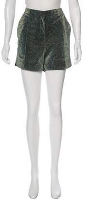 Golden Goose Metallic Mini Shorts