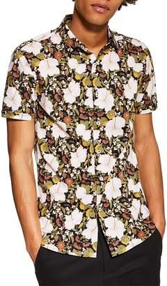 Topman Floral Print Sport Shirt