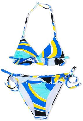 Emilio Pucci Junior retro printed bikini