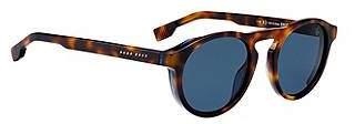 HUGO BOSS Keyhole-nose acetate sunglasses with Havana frames