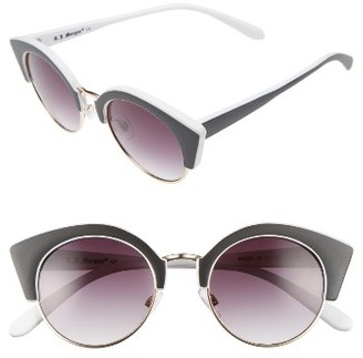 Women's A.j. Morgan Temple 50Mm Sunglasses - Black/ White $24 thestylecure.com