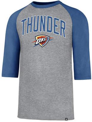 '47 Men's Oklahoma City Thunder Zone Raglan Three-Quarter Sleeve T-Shirt