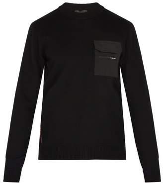 Prada - Patch Pocket Wool Sweater - Mens - Black