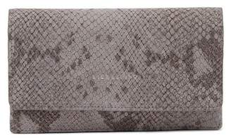 Liebeskind Berlin Inglewood Snake Print Leather Clutch