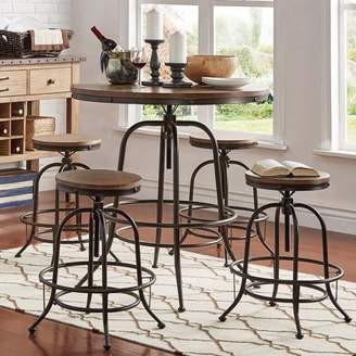 Clayton Weston Home 5-Piece Round Counter Height Dining Stools Set