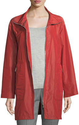 Lafayette 148 New York Kya Empirical Tech-Cloth Zip-Front Jacket