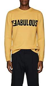 "Fendi Men's ""Fabulous"" Virgin Wool Sweater - Yellow"