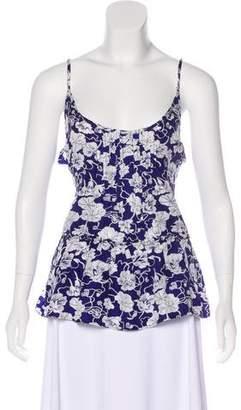 Calypso Silk Floral Print Top