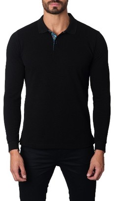 Men's Jared Lang Long Sleeve Polo $89 thestylecure.com