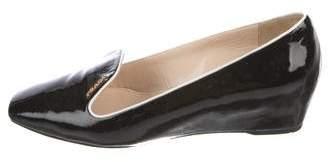 Prada Sport Patent Wedge Loafers
