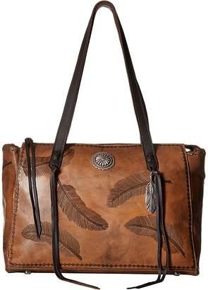 American West Sacred Bird Zip Top Tote w/ Secret Compartment Tote Handbags