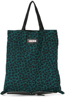 Marni convertible folding shopper tote