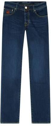 Jacob Cohen Contrast Stitch Slim Fit Jeans