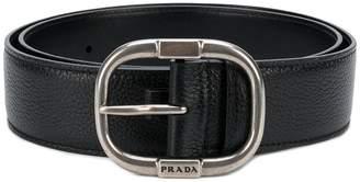 Prada pebbled texture belt