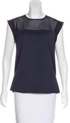 TOMORROWLAND Sheer-Accented Sleeveless Top
