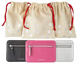 Lodis Leather RFID 3-Pack Card CaseSet