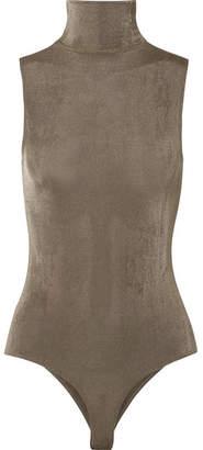 Alix Bevy Stretch-jersey Turtleneck Thong Bodysuit