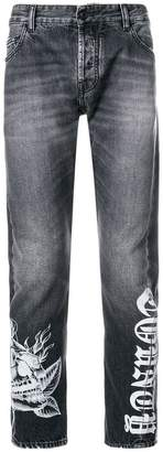 Marcelo Burlon County of Milan Light wash anti-fit jeans