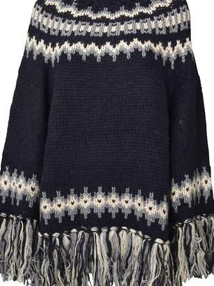 Semi-Couture Semicouture Oversized Fringed Sweater