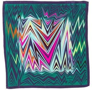 Missoni Printed Silk Scarf Green Printed Silk Scarf
