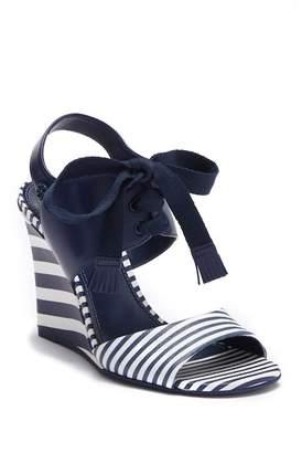 Tory Burch Maritime Stripe Wedge Sandal