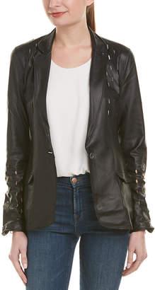Jakett Cate Washer Leather Jacket