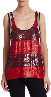 3.1 Phillip Lim Striped Sequined Tank