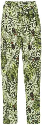 Andrea Marques printed straight trousers