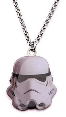 Disney Star Wars Stainless Steel Stormtrooper Cut Out Pendant with Chain