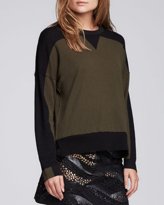 Nanette Lepore Elroy Two-Tone Sweater