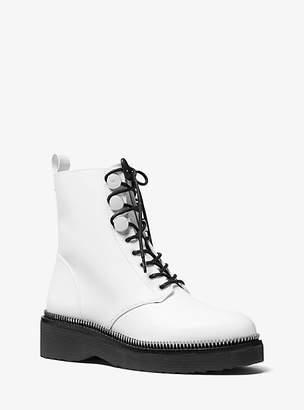 Michael Kors Tavie Leather Combat Boot