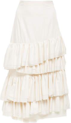 Brock Collection High Waist Midi Sadie Skirt