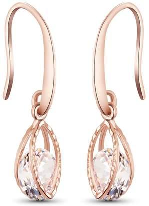 SHEGRACE Wedding Earrings for Bridesmaids, Plated Hook Earrings, Oval Dangle Earring Drop Earrings
