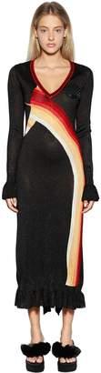 Marco De Vincenzo Lurex Knit Jacquard Dress
