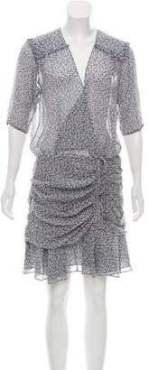 Veronica Beard Silk Dakota Flounce Dress w/ Tags